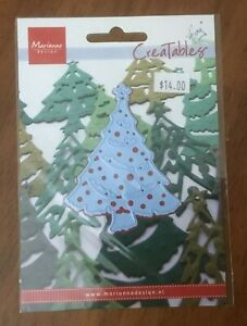 NEW! Christmas Tree Die Cut Stencil Embossing Marianne Creatables LR7016