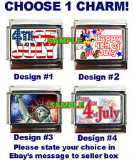 4th of July Custom Italian Charm Disney Mickey Mouse Happy Fourth