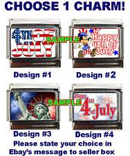 4th of July Custom Italian Charm Disney Mickey Mouse Happy Fourth