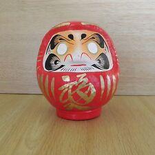 petit Daruma Rouge du Japon -- hauteur 11cm / Rot Daruma Puppe / red Daruma doll