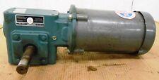BALDOR AC MOTOR, VM3546, 1 HP , TIGEAR GEAR REDUCER, Q202Y015N056K1, 15:1