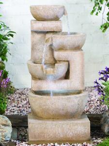 Sparkling Bowls Kelkay Easy Fountain Garden Water Feature 4717L New