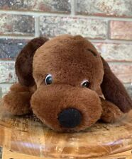 1973 Dakin Drooper Dog Plush Brown Puppy Chocolate 10""