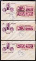 1936 TIPEX sheet Sc 778-29 Bronesky cachet set of 3  CV $90