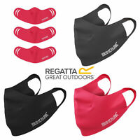 3 x Regatta Adults Stretch Reusable Washable Face Cover Covering Mask RUC074