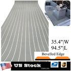 Boat Decking Flooring Sheet Eva Foam Marine Faux Teak Deck Gray With Withe