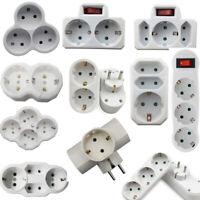 2/3/4Fach Steckdose Steckdosenleiste Mehrfach Steckdosenverteiler Adapter EU Plu