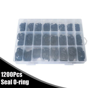 1200Pcs NBR Gasket O-ring Assortment Kit With Box 6 to 28mm For Auto Car SUV