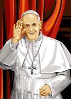 Seg De Paris Wandteppiche / Nadelspitze Leinen – Pope Francois ( Le Pape
