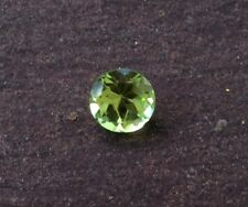 1 PC ROUND CUT SHAPE NATURAL PERIDOT 3MM FACETED LOOSE GEMSTONE