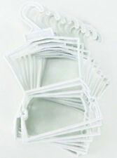 "10 White Plastic Outfit Hangers(1 Dozen) made for 18"" American Girl Doll Clothes"