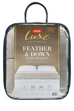 Tontine Luxe Feather & Down Blanket KING/SUPER KING size in Taupe RRP $279.95