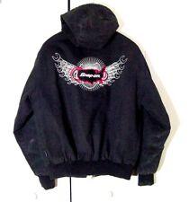 Vtg Snap On Tools Garage Mechanic Drag Zip Hoodie Quilted Jacket Sz L