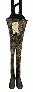 Cabelas Neoprene Insulated Chest Waders Advantage Max 4 Camo - YOUTH Size 5