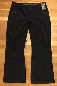 Under Armour Womens OS Better Ski Pants Size XL Nwt 1315992-001 Black