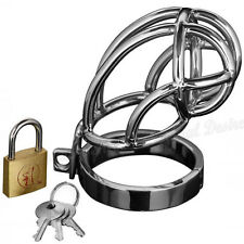 Male Steel Chastity Cage Sensual Desire Master Series Captus Locking Stainless