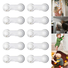 10pcs Kids Child Baby Door Safety Lock Pet Proof Fridge Cupboard Cabinet Drawer