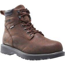 """Wolverine Boots Mens Floorhand Waterproof Steel-Toe 6"""" Work Boot Brown"""