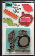 "Sizzix/Hero Arts Framelits ""Ornaments"" Christmas 5 Stamps and 5 Dies *New*"