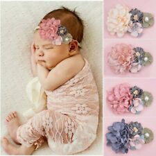 Baby Headband Pearl Floral Girl Elastic band Photography Accessories dgFS