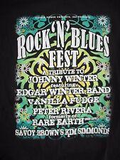 JOHNNY WINTER Tribute ROCK N BLUES Festival (MED) T-Shirt EDGAR VANILLA FUDGE