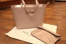 TED BAKER Jjessica Bow Leather Shopper Bag Taupe BNWT