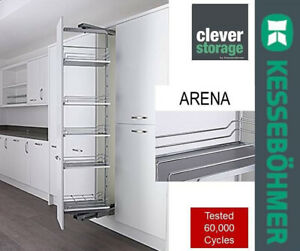 Kessebohmer 300mm Arena Soft Close Pull Out Swing Larder Ht Adj 1800-2200mm