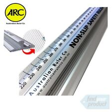ARC NON SLIP SAFETY RULER -600mm Aluminium Heavy Duty Trade Quality.