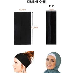 Bandeau cheveux femme 2en1 pour sport, hijab, foulard - Différents coloris