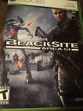 BlackSite: Area 51 (Microsoft Xbox 360, 2007) Complete FAST SHIPPING