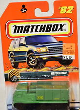 MAMATCHBOX MISSION - MISSILE LAUNCHER #82 CARD VARIATION W+