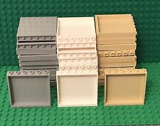 Lego New 10 Tan 1x6x5 Panel,10 White And 10 Light Bluish Gray (30 Pieces Total)