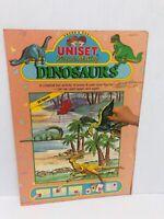 Uniset Picture Making Dinosaur Playset Press & Peel Vinyl Figures Toy Vintage