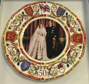 Golden Wedding Anniversary Gloucester Plate from Wedgwood