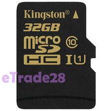 Kingston 32GB 600x Micro SDHC TF Flash Card 32G SD UHS-I C10 90MB/s + SD Adapter