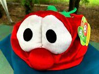 NEW w/TAG RARE Gund Veggie Tales Bob The Tomato Plush Hat