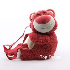 Toy Story Lotso huggin Bear Strawberry Scented Plush Backpack Shoulder Bag Toy