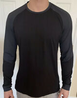 Lululemon Men Size S Muscle Motion Long Sleeve Gray Black OBSI/BLK Shirt Top Run