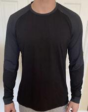 Lululemon Men Size XL Muscle Motion Long Sleeve Gray Black OBSI/BLK Shirt Top