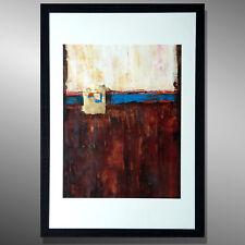 KUNST Original Gemälde ABSTRAKT ACYLMALEREI HANDGEMALT modern C. GOETHE Rahmen