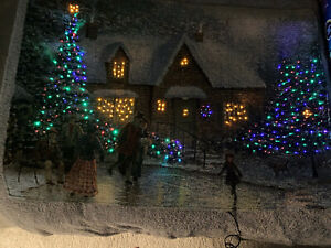 FIBRE-OPTIC CHRISTMAS WALL HANGING TAPESTRY