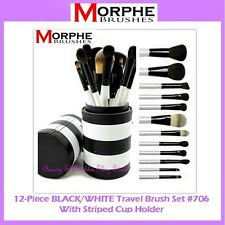 ❤️⭐NEW Morphe Brushes😍🔥👍BLACK & WHITE TRAVEL SET💎💋12-Piece w/Cup Holder 706