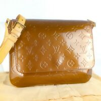 LOUIS VUITTON THOMPSON STREET Shoulder Bag Purse Monogram Vernis M91124 Bronze