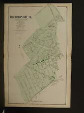 New York Long Island Map 1873 Richmond Hill, Double Page N3#98