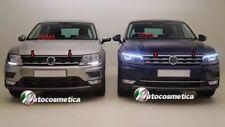 Modanatura Griglie  Anteriore in acciaio Cromo Volkswagen TIGUAN 2016>