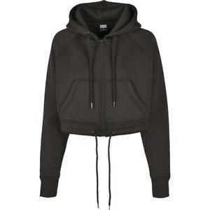 Urban Classics Ladies Oversized Short Raglan Zip Hoody Jacke kurz geschitten