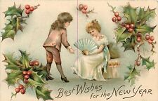 Best Wishes for the New Year Postcard 1909 Happy New Year
