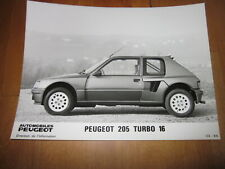 ORIG. Werksfoto Foto Peugeot 205 Turbo 16, 1984 - Fahrerseite, SELTEN!