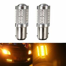 2x Amber 1157 BAY15D S25 33 SMD 5730 LED Turn Signal Tail Brake Stop Reverse AQ