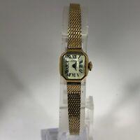 Vintage Girard Perregaux Womens Manual Wind Up 10K Gold Filled Analog Wristwatch